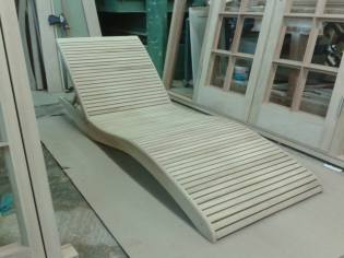 Sun lounger designed and made by Stephen Wipp of Aragon joinery. All rights reserved Stephen Wipp 2014